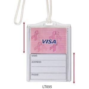 Logo In-Motion Luggage Tag (Awareness Ribbon)