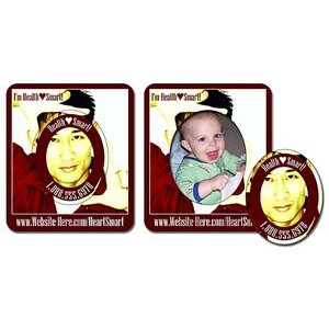 25 Mil Laminated Picture Frame Magnet w/Oval Punch